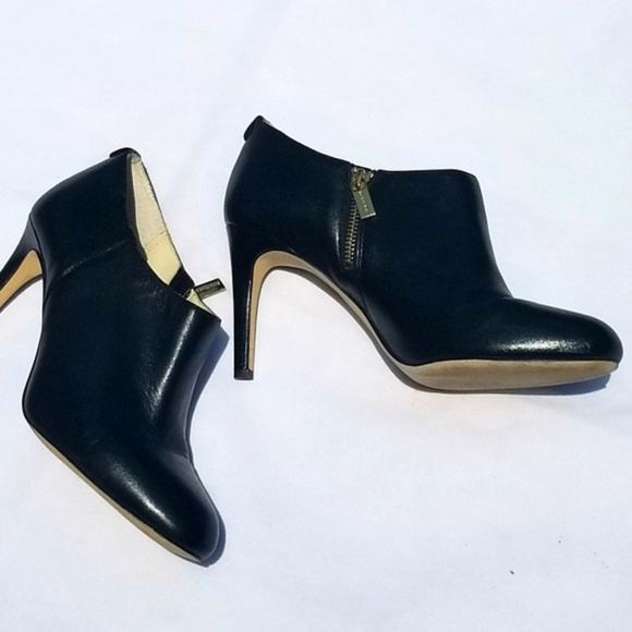 MICHAEL Michael Kors Shoes - Michael Kors Black Leather Heeled Ankle Booties